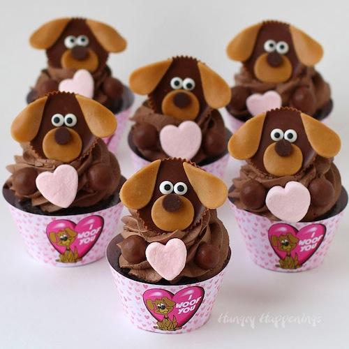 dog-cupcakes-animal-themed-treats-Valentines-day-